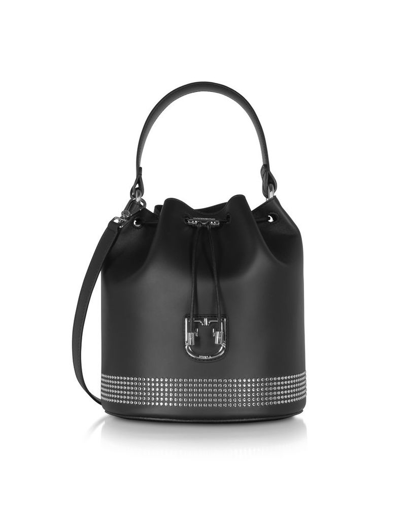 Furla Designer Handbags, Corona S Drawstring Studded Bucket Bag
