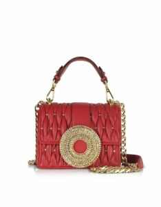 Gedebe Designer Handbags, Gio Small Nappa Leather & Crystal Handbag