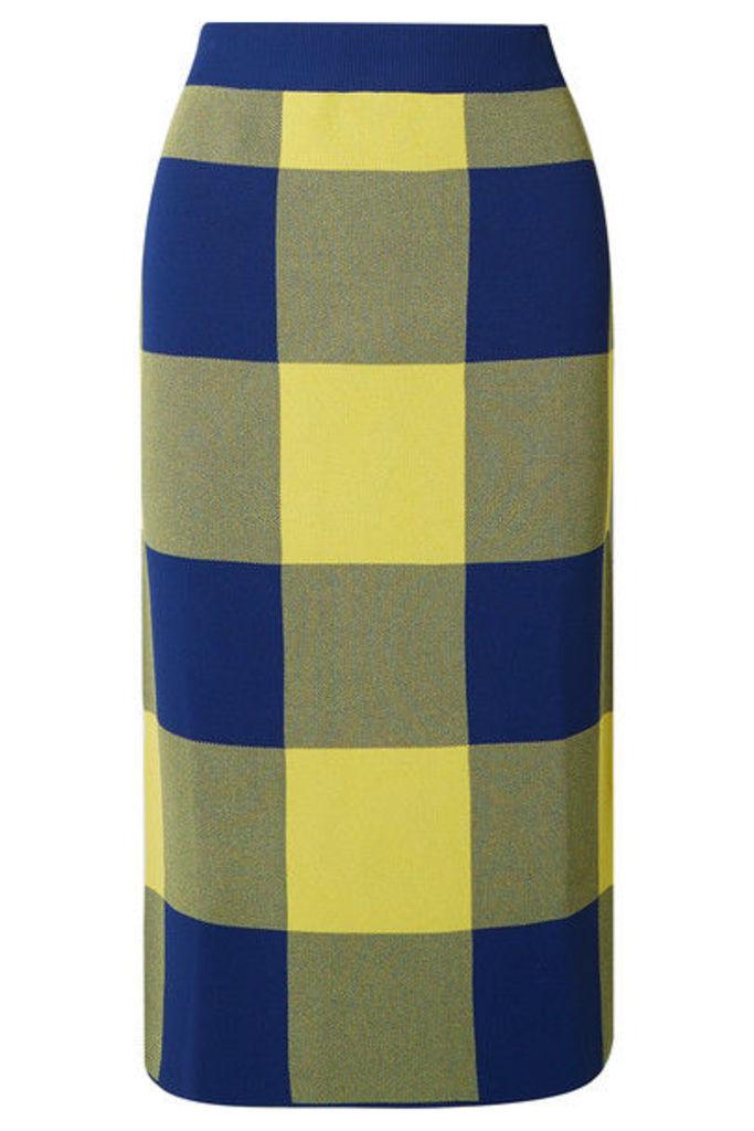 Derek Lam - Gingham Stretch Jacquard-knit Midi Skirt - Yellow