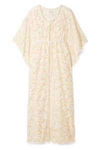 Anna Sui - Climbing Orchids Guipure Lace Robe - Ivory