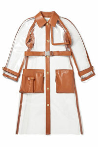 Fendi - Leather-trimmed Pvc Trench Coat - Clear