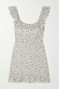 Anjuna - Tiered Printed Cotton-voile Mini Dress - Blue