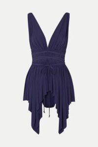 Norma Kamali - Goddess Swim Dress - Midnight blue