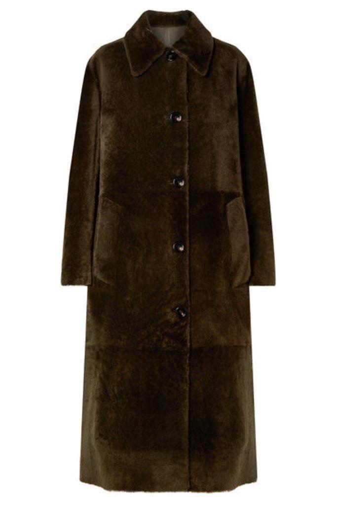 Bottega Veneta - Reversible Shearling Coat - Army green