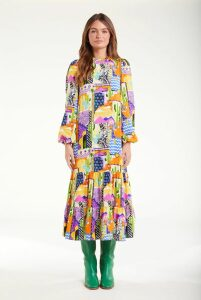 Alexa Chung Double Breasted Tailored Coat Camel