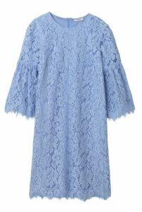 Ganni Jerome Lace Mini Dress Serenity Blue
