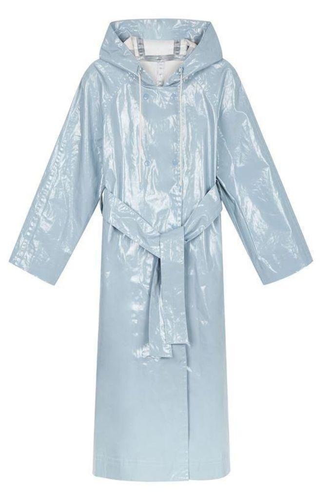 Alexa Chung Laminated Cotton Hooded Raincoat