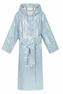 Alexa Chung Laminated Cotton Hooded Raincoat