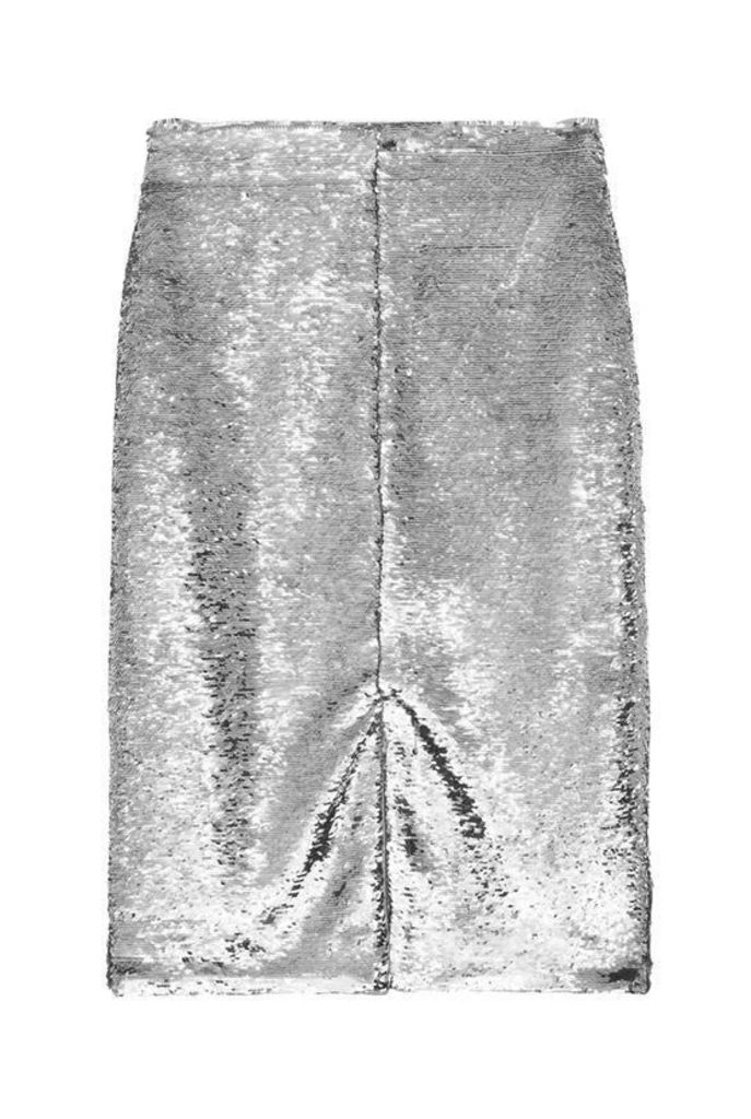 Ganni Sequins Skirt Silver