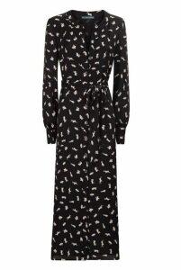 Alexa Chung Tie Waist Button Through Dress