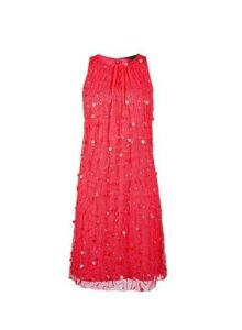 Womens **Showcase Hot Pink 'Violet' Dress- Pink, Pink