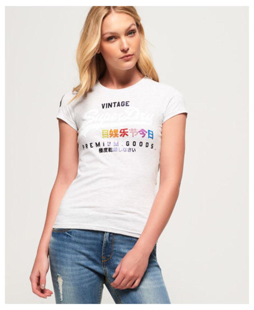 Superdry Premium Goods Rhinestone Pop T-Shirt