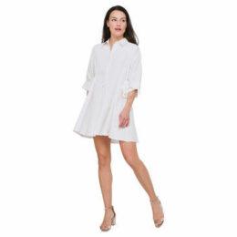 Cuplé  Oversized shirt dress  women's Dress in White