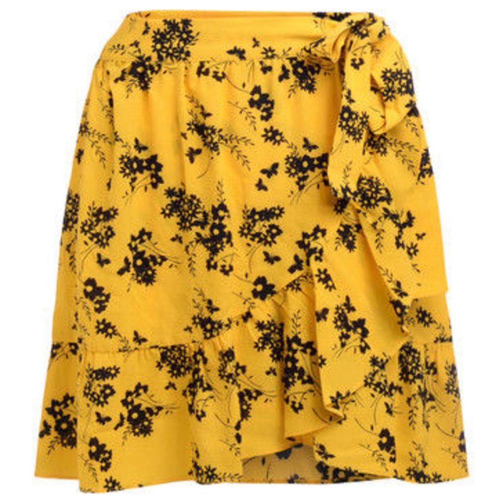 MICHAEL Michael Kors  Gonna in tessuto giallo a fiori  women's Skirt in Yellow