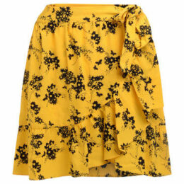MICHAEL Michael Kors  Gonna in tessuto giallo a fiori  women's Skirt in Yellow