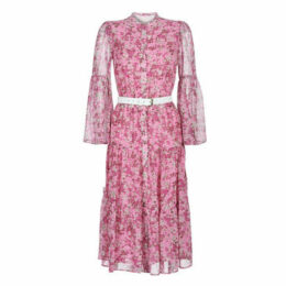 MICHAEL Michael Kors  ENCHANTED BLOOM DRESS  women's Long Dress in Pink