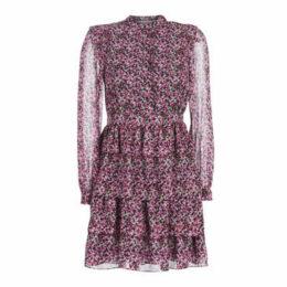 MICHAEL Michael Kors  FLORAL SHIRT DRESS  women's Dress in Multicolour