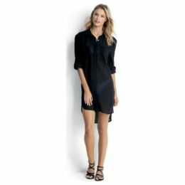 Seafolly  Crinkle Twill Beach Shirt, , Black  women's Tunic dress in Black