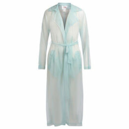 Jucca  Trench semi trasparente color azzurro  women's Trench Coat in Other