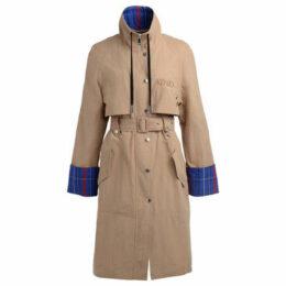 Kenzo  beige trench coat with multicolor details  women's Trench Coat in Beige