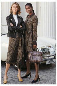 Womens Hobbs Multi Lola Dress -  Black