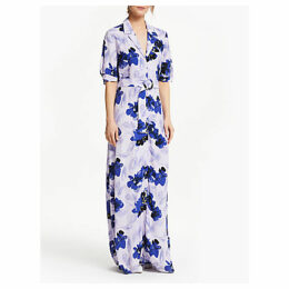 Y.A.S Maribel Floral Belted Maxi Dress, Purple/Multi