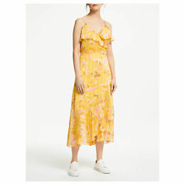 Second Female Heat Wrap Maxi Dress, Daffodil