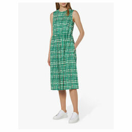 L.K.Bennett Violet Check Dress, Green/White
