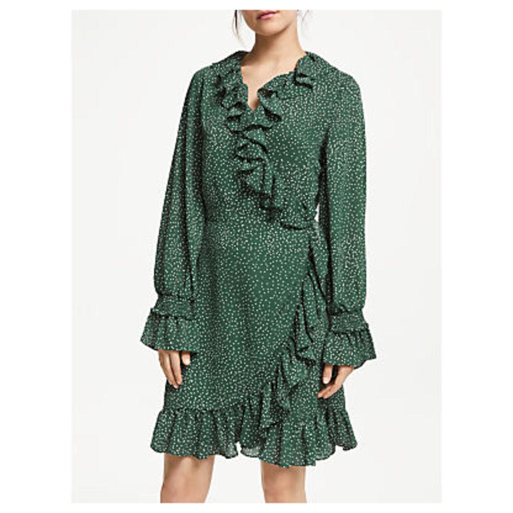Just Female Polka Dot Wrap Dress, Green
