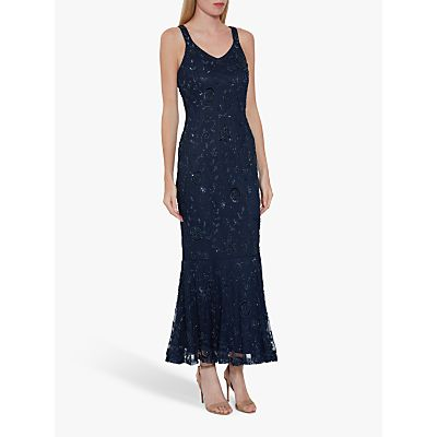 Gina Bacconi Zaina Embellished Dress, Navy