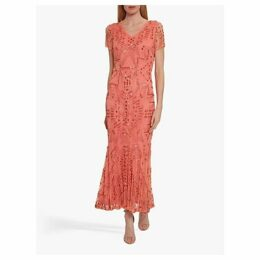 Gina Bacconi Joan Beaded Midi Dress