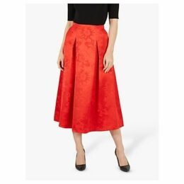 Jaeger Jacquard Midi Skirt, Red