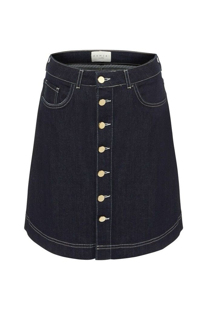 Womens Damsel In A Dress Blue Mea Smart Denim Skirt -  Blue