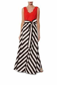 Womens Gina Bacconi Black Tiegan Satin And Jersey Dress -  Black