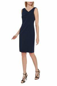 Womens Gina Bacconi Blue Leonie Stretch Moss Crepe Dress -  Blue