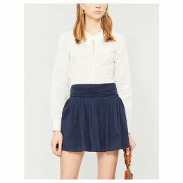 Irine pleated cotton skirt