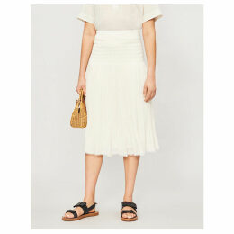 Savana flared pleated skirt