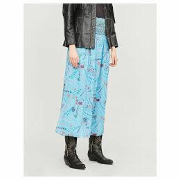 Jess psyche floral print crepe skirt