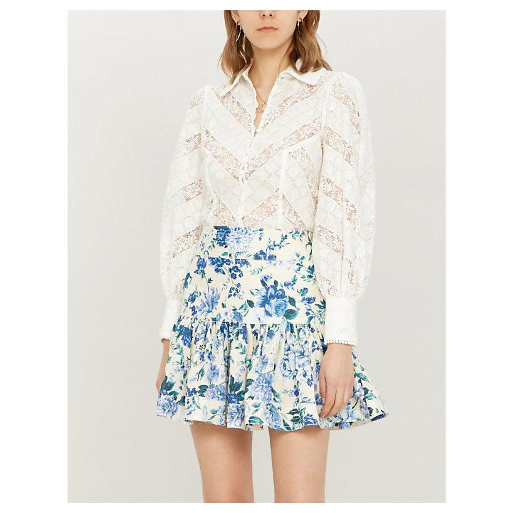 Veneto ruffled lace shirt