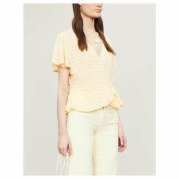Sylvi gingham cupro blouse