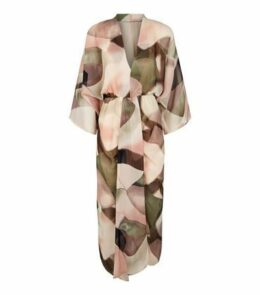 AX Paris Off White Abstract Print Chiffon Midi Dress New Look