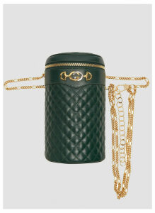 Gucci Quilted Leather Chain Bag in Green size M