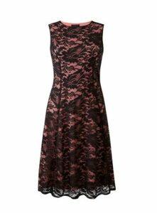 **Grace Black Lace Midi Dress, Black