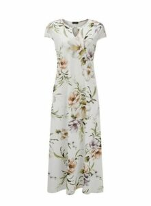 **Grace Ivory Keyhole Maxi Dress, Ivory
