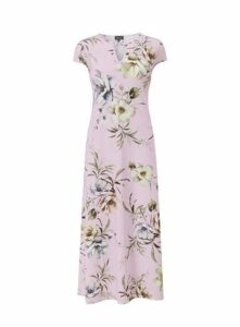 **Grace Pink Keyhole Maxi Dress, Pink