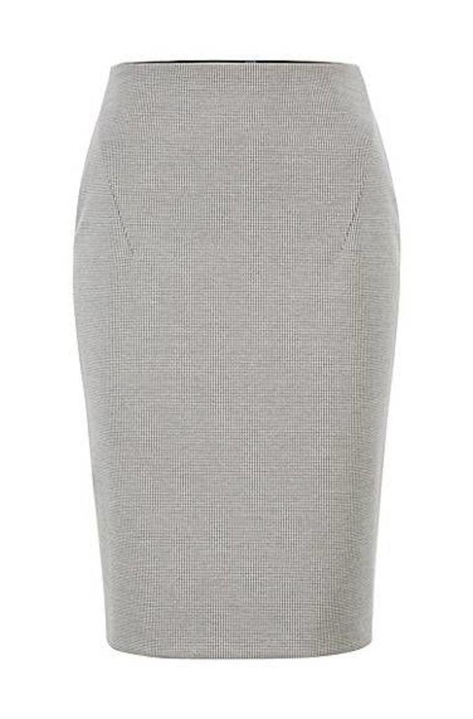 Pencil skirt in Italian jersey with full rear zip
