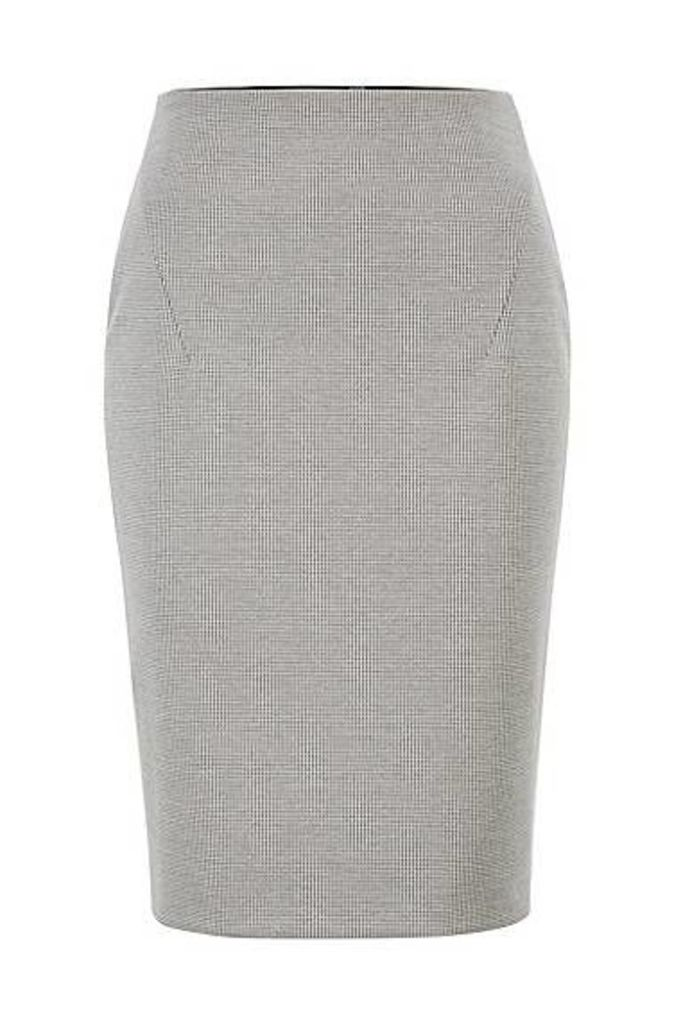 Pencil skirt in Italian jersey with full rear zip