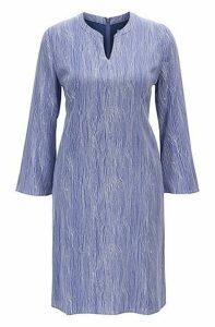 Regular-fit tunic dress in printed silk