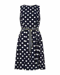 Yumi Curves Sleeveless Polka Dress