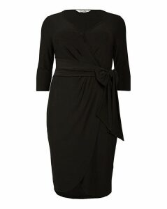 emily Isabella Jersey Curve Wrap Dress